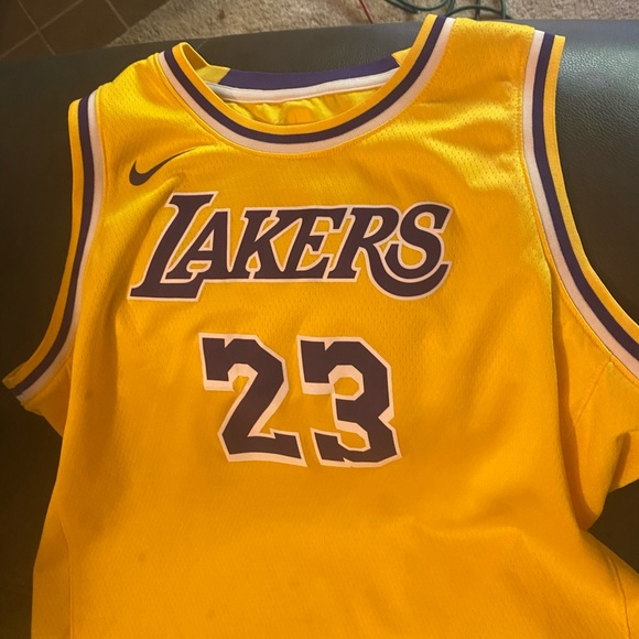 Large Youth Lakers Lebron James Jersey 23